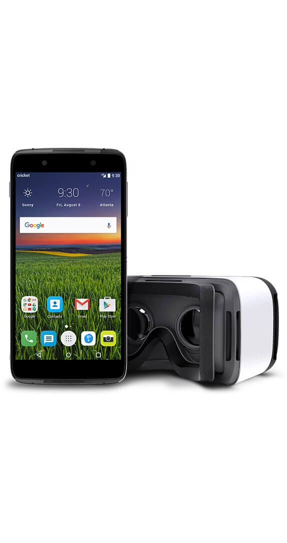 Alcatel IDOL<sup>&trade;</sup> 4 <br>With VR Goggles Front