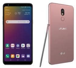 LG Stylo 5 Platinum Grey and Blone Rose
