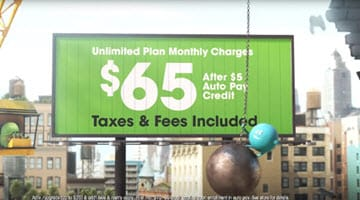 Unlimited Plan Monthly Charge $65 after $5 AutoBill Pay Credit  Taxes & Fees Included