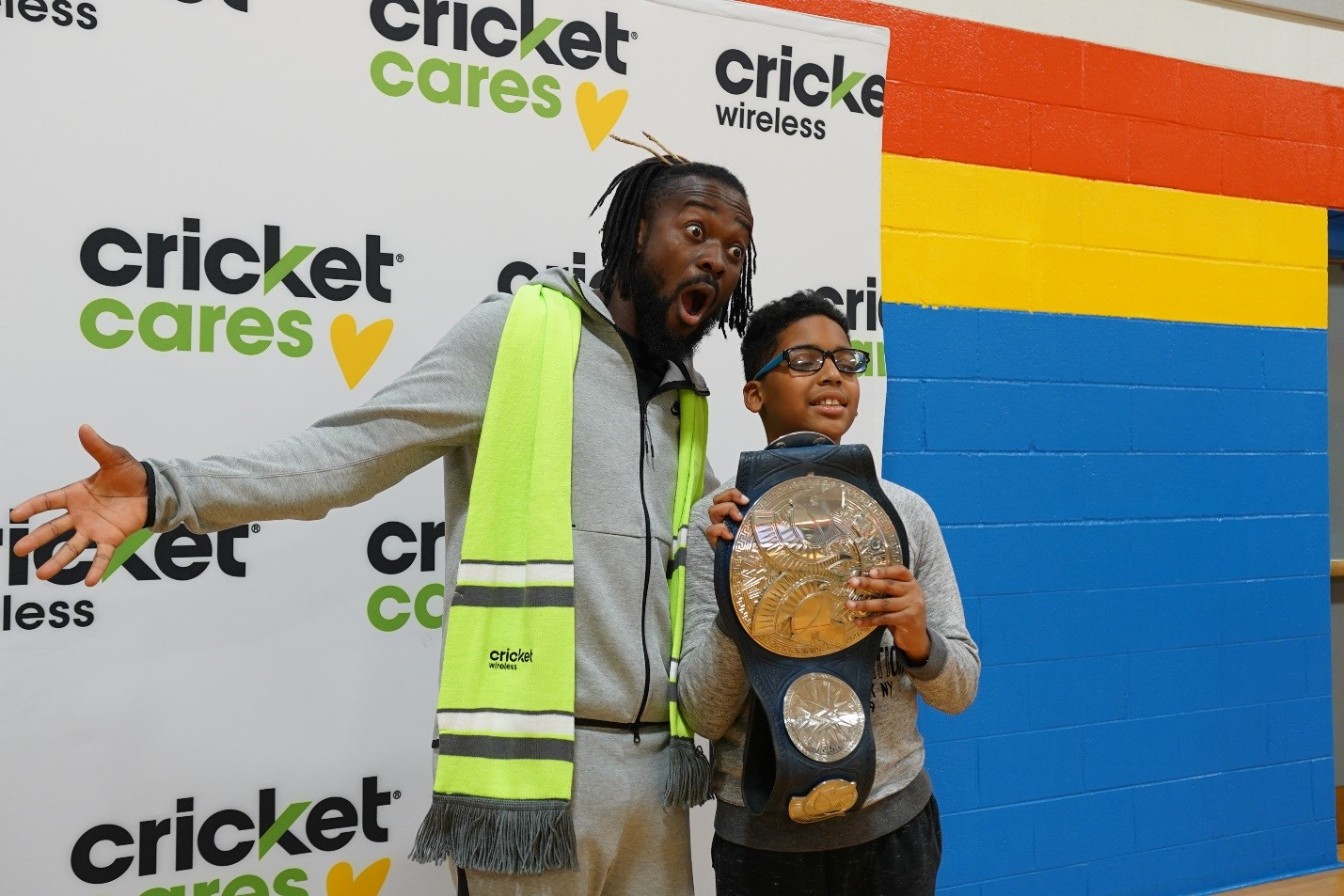 Kofi and our Cricket employees spreading some holiday cheer.