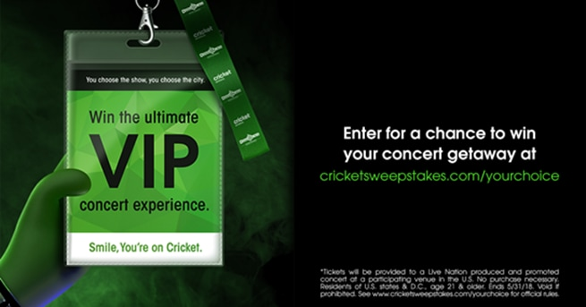 Cricket Wireless Consumer Choice Sweepstakes