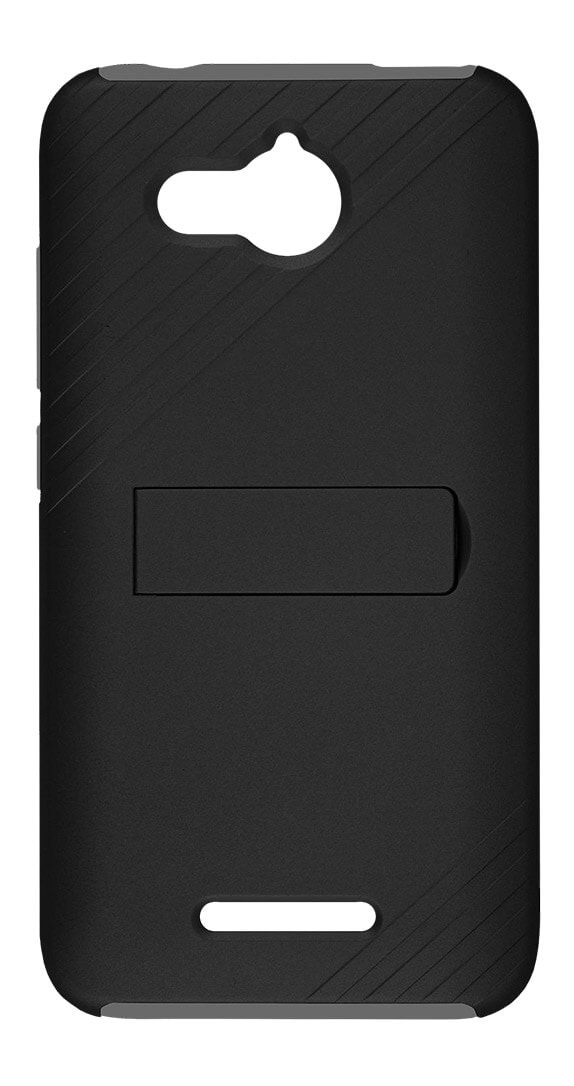 Two Piece Kickstand Shield and Screen Protector for Alcatel TETRA™