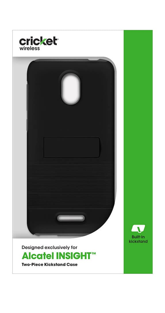 Cricket Two-Piece Kickstand Shield for Alcatel Insight