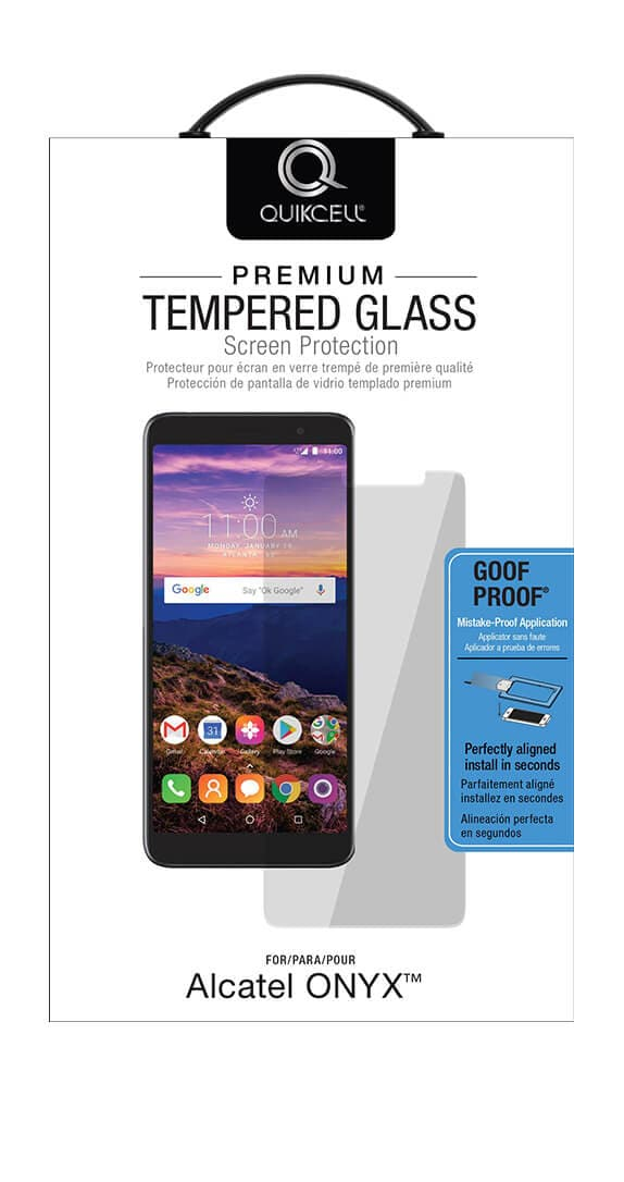 Quikcell Goof Proof Tempered Glass for Alcatel ONYX™