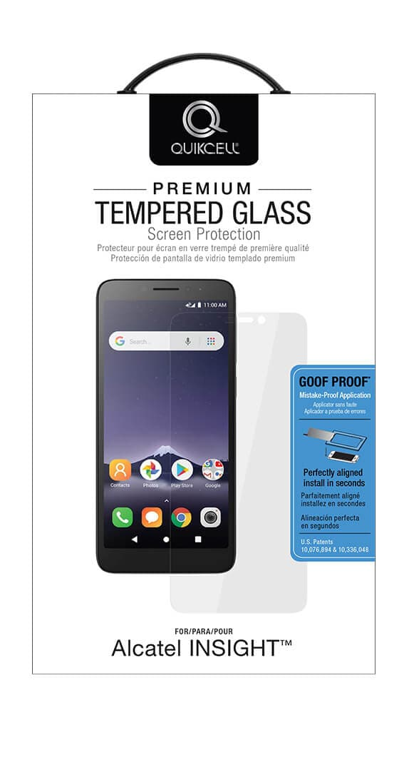 QuikCell Tempered Glass for Alcatel Insight