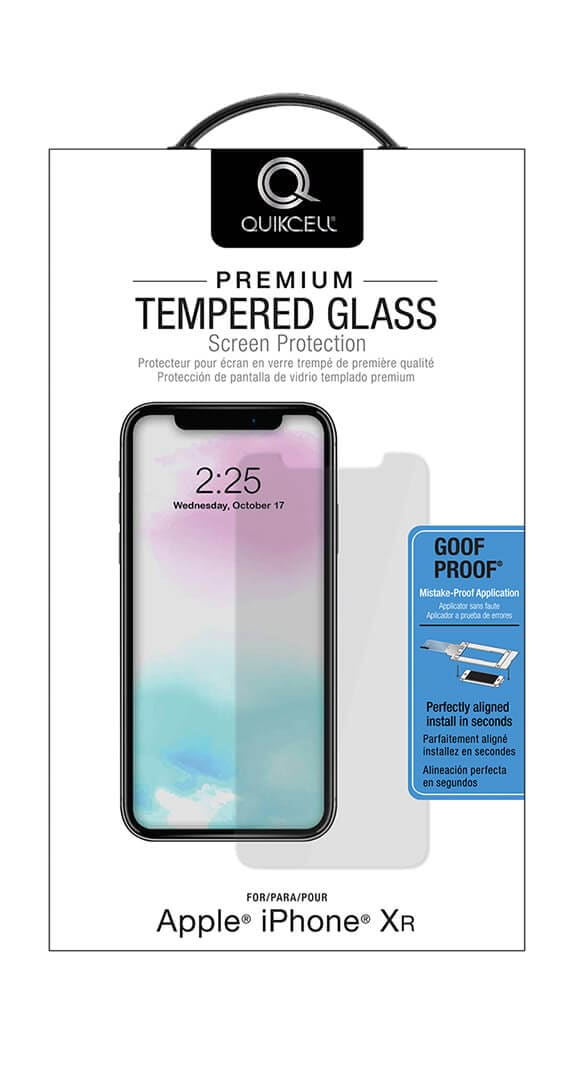 Quikcell Premium Tempered Glass Screen Protector for Apple iPhone XR