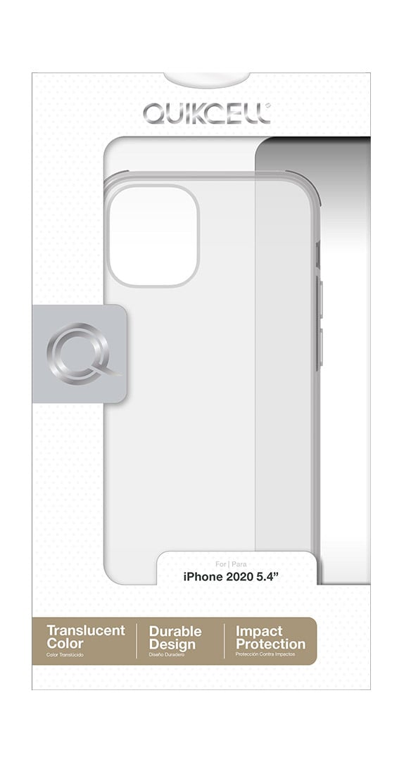Estuche Transparente de la Serie Quikcell Icon Tint para iPhone 12 mini
