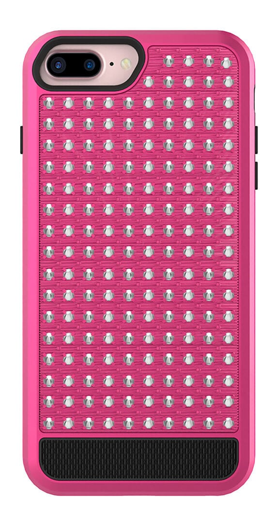 Cubierta Híbrida ZV Diamond Studded para iPhone 6s+, 7+ y 8+