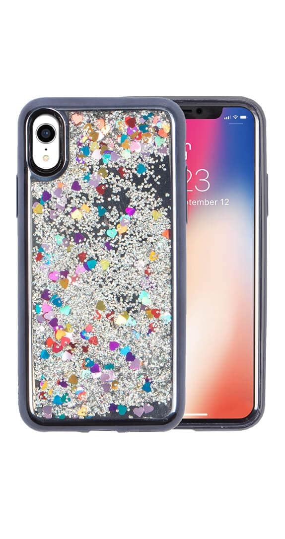 Estuche ZV Gltter Star para iPhone XR
