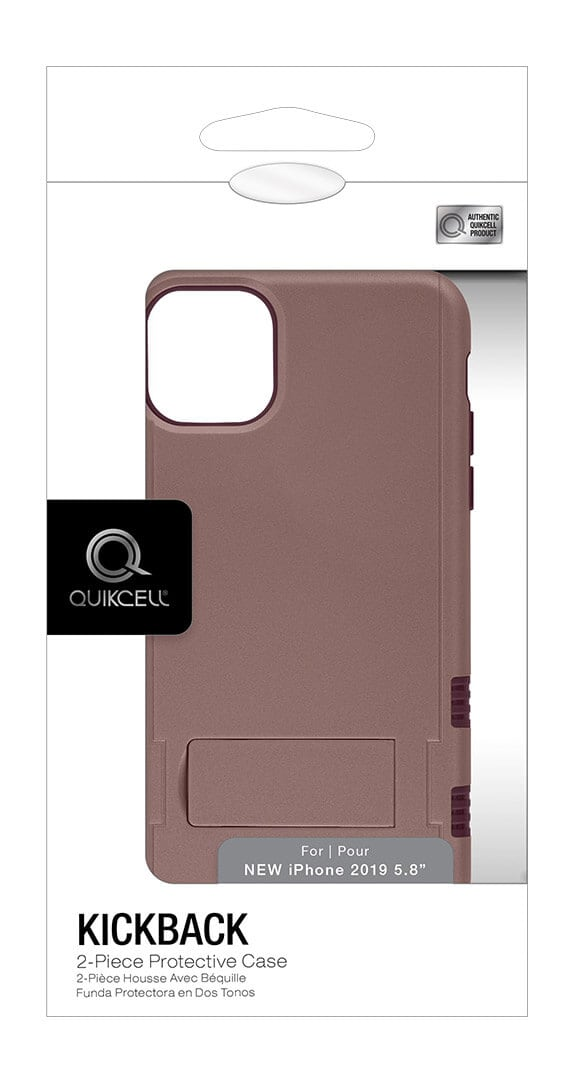 Quikcell KICKBACK Two-Piece Kickstand Shield for iPhone 11 Pro