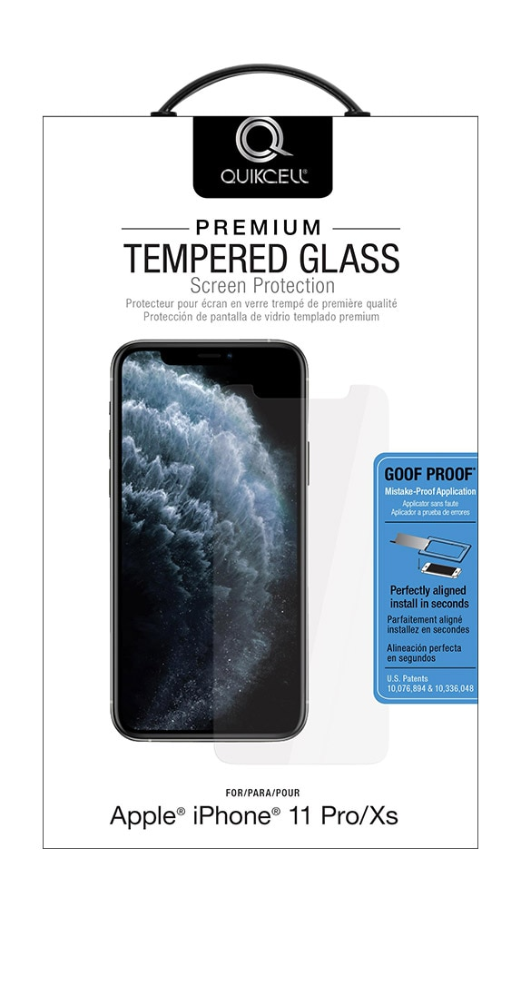 QuikCell Tempered Glass for Apple iPhone 11 Pro/X/XS