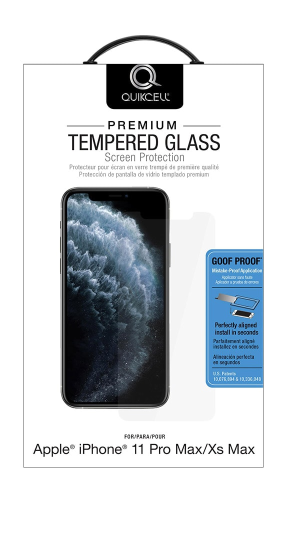 QuikCell Tempered Glass for Apple iPhone 11 Pro Max/XS Max
