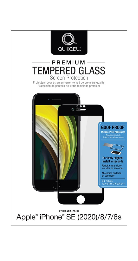 Quikcell Tempered Glass for iPhone SE (2020)/8/7/6s