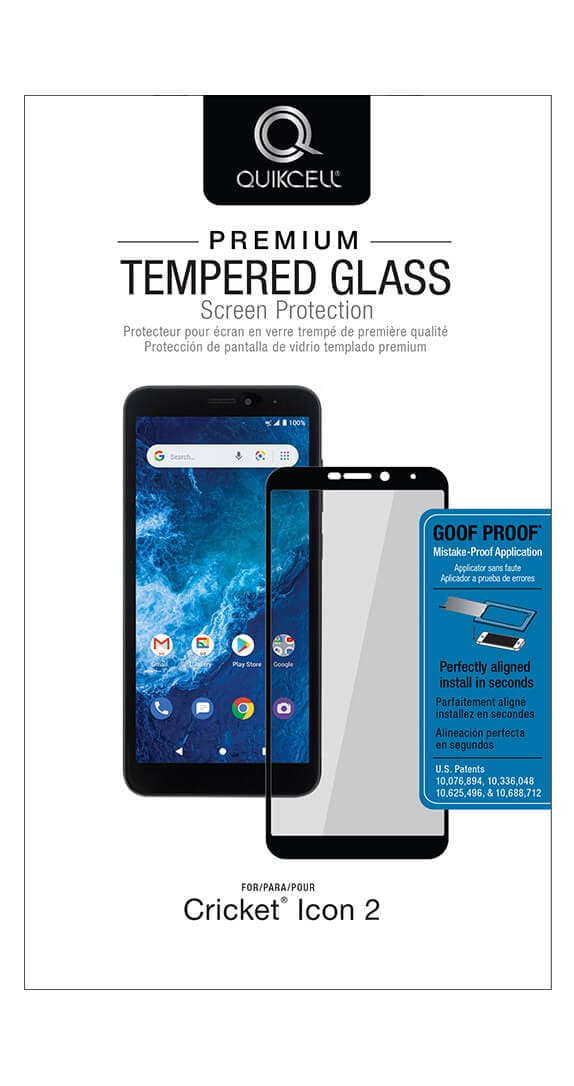 Quikcell Antimicrobial Tempered Glass for Cricket Icon 2