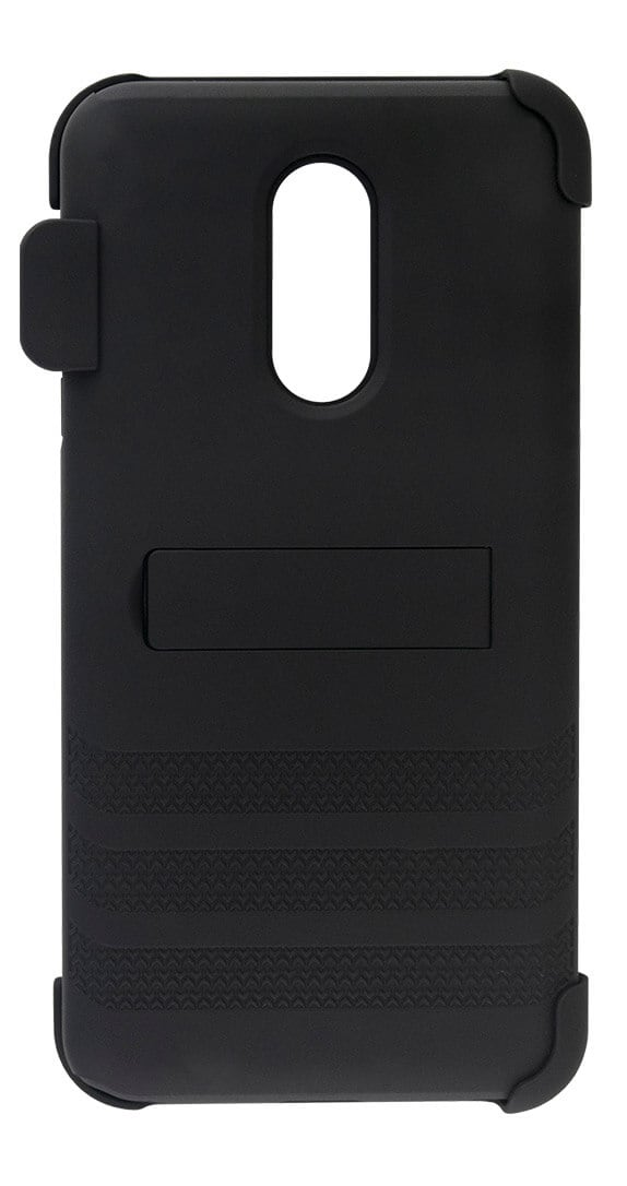 Cricket Holster Combo with Two-Piece Kickstand Shield for LG Stylo 5