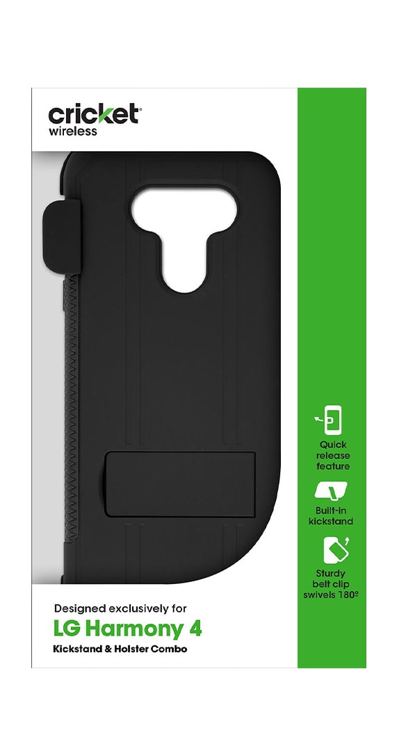 Cricket Holster/Kickstand Combo Antimicrobial Shield for LG Harmony 4