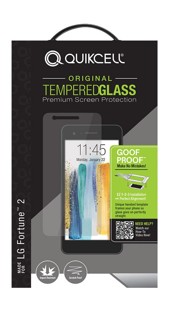 Quikcell Goof Proof Extreme Glass for LG Fortune™ 2
