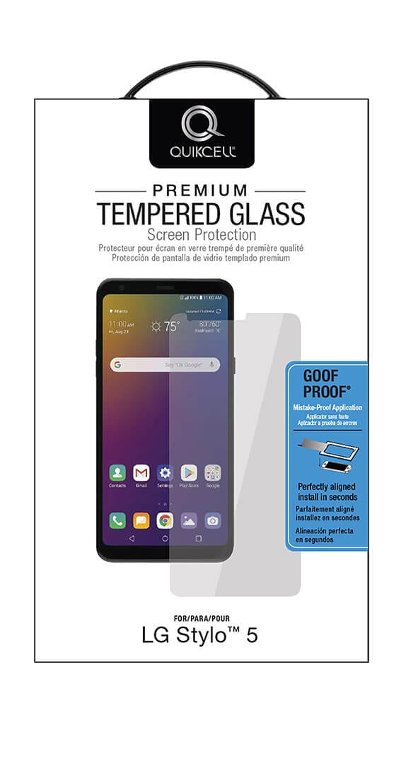 QuikCell Tempered Glass for LG Stylo 5