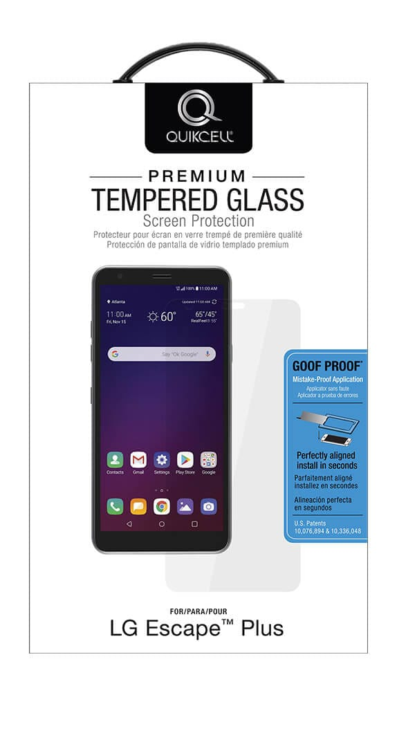 QuikCell Tempered Glass for LG Escape Plus