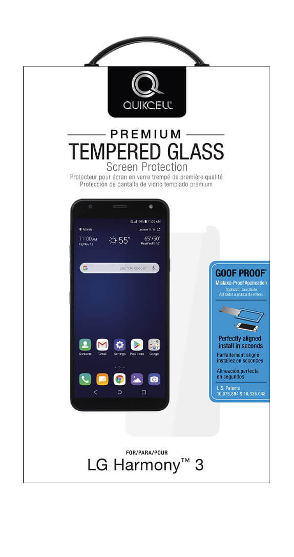 QuikCell Tempered Glass for LG Harmony 3