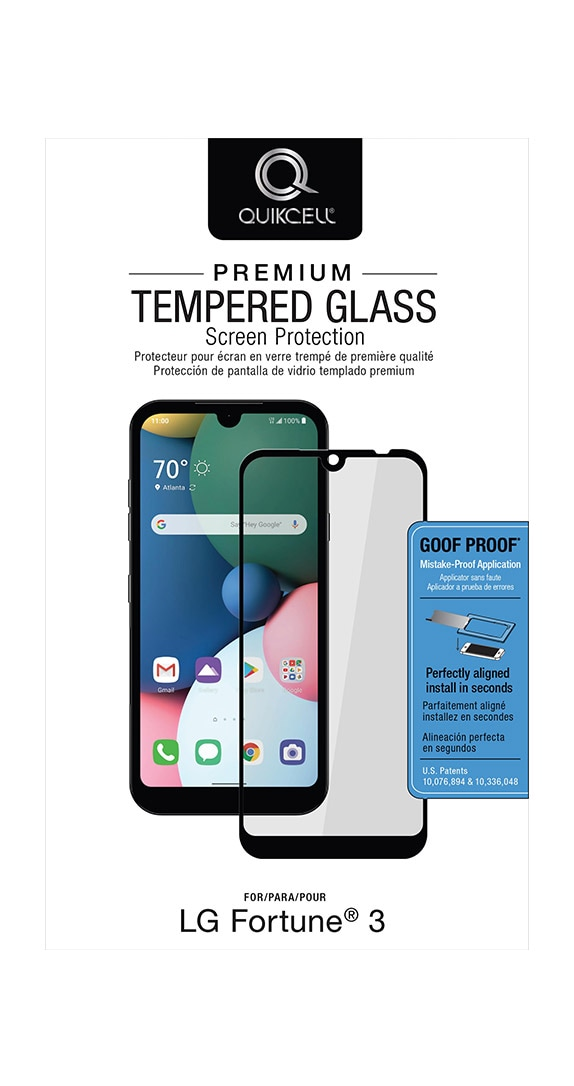 QuikCell Tempered Glass for LG Fortune 3