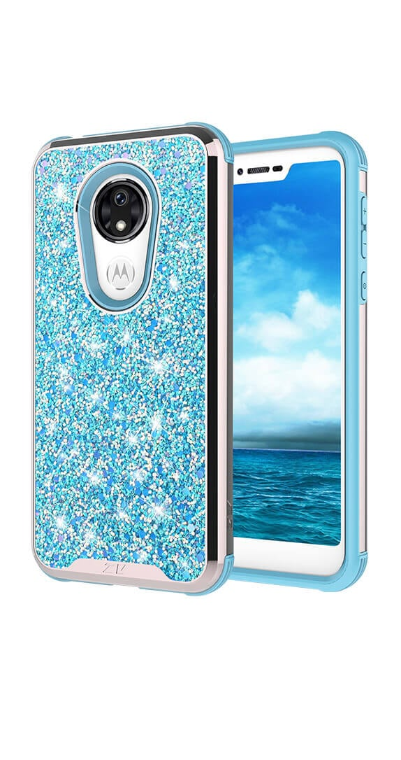 Zizo Baby Blue Stellar Series for moto G7 SUPRA