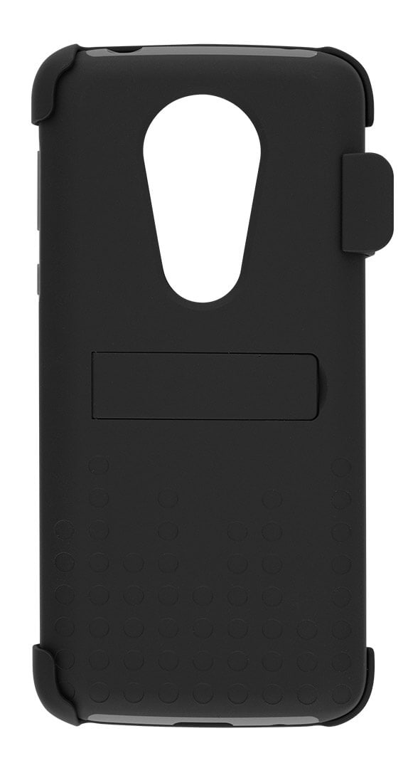 Two-Piece Kickstand Shield with Holster for moto e<sup>5</sup> SUPRA