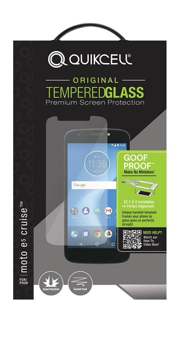 Quikcell Goof Proof Extreme Glass para moto e<sup>5</sup> CRUISE