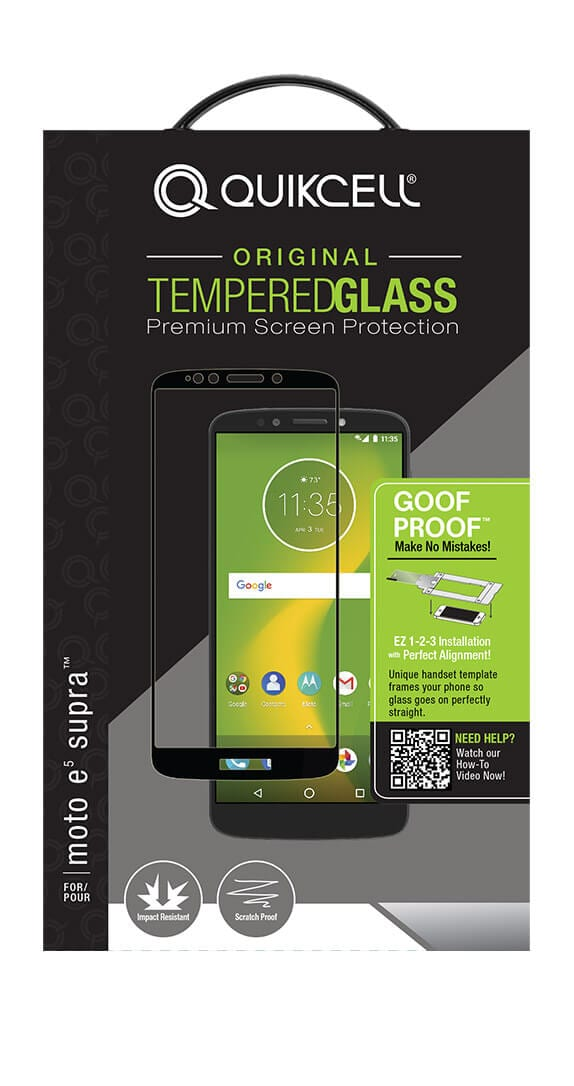 Quikcell Goof Proof Extreme Glass for moto e<sup>5</sup> SUPRA