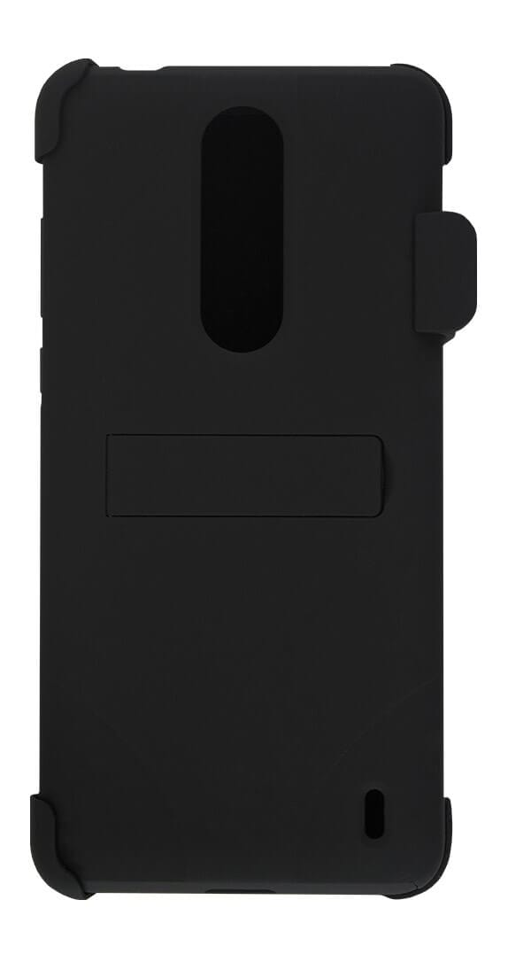 Two-Piece Kickstand Shield with Holster for Nokia 3.1 Plus