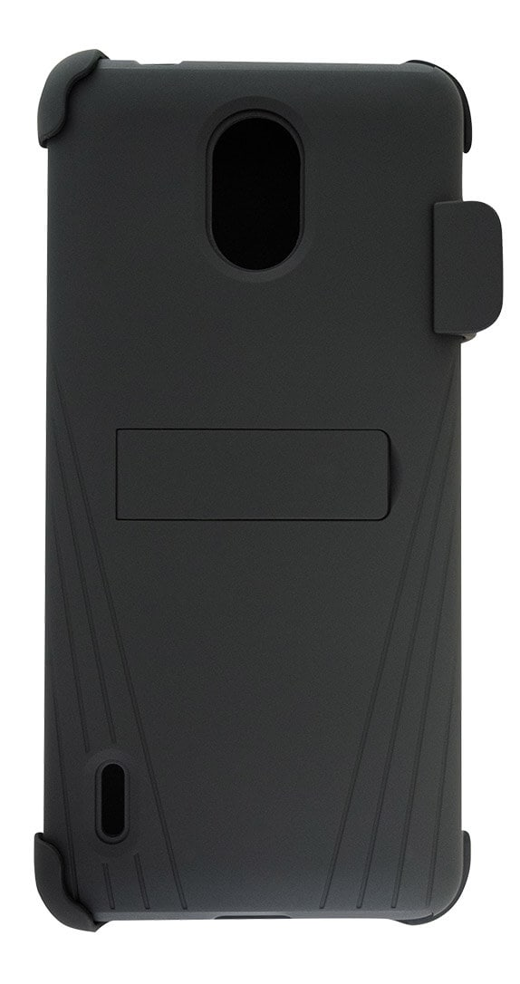 Cricket Holster Combo with Two-Piece Kickstand Shield with Screen Protector for Nokia 3.1 C