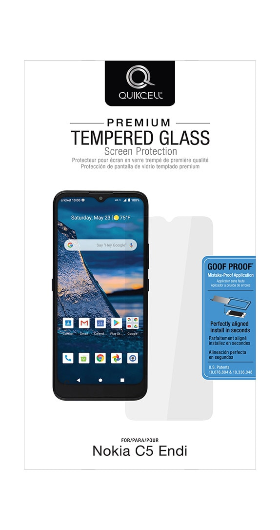 QuikCell Tempered Glass for Nokia C5 Endi