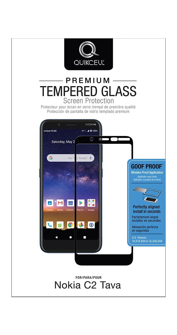 QuikCell Tempered Glass for Nokia C2 Tava