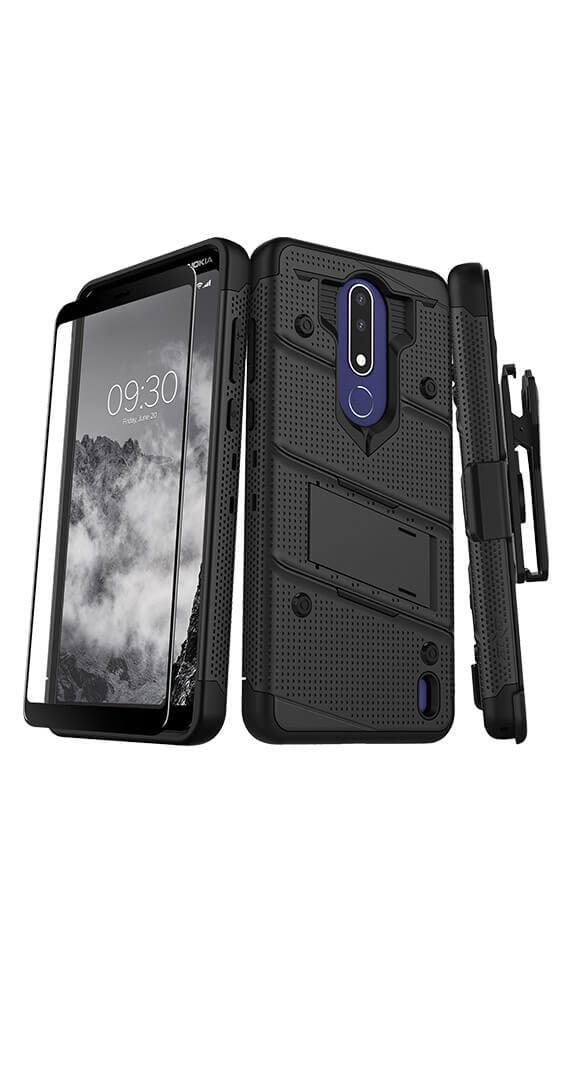 Cubierta Zizo Bolt c/soporte y funda para Nokia 3.1 Plus