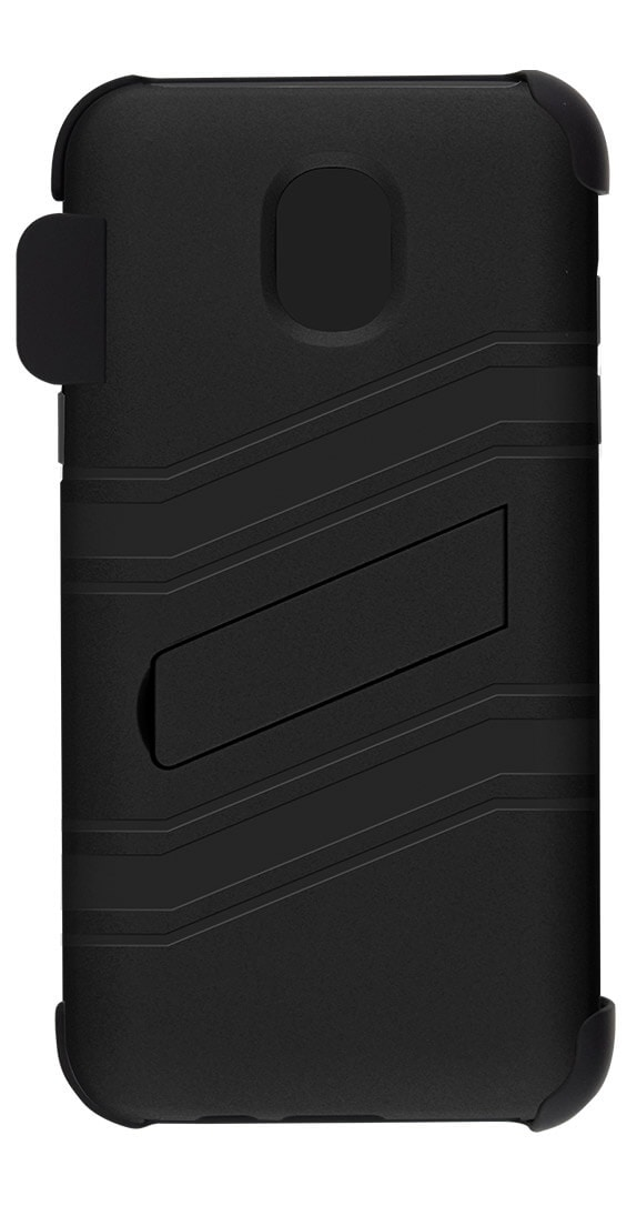 Two-Piece Kickstand Shield with Holster for Samsung Galaxy Amp Prime 3