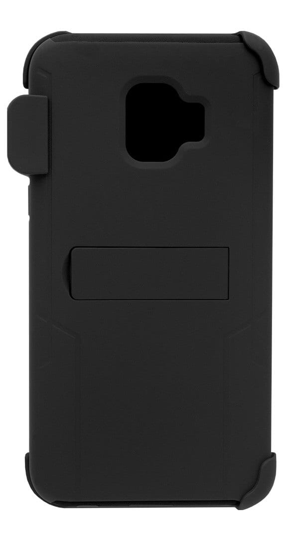 Two Piece Kickstand Shield with Holster for Samsung Galaxy J2 Pure