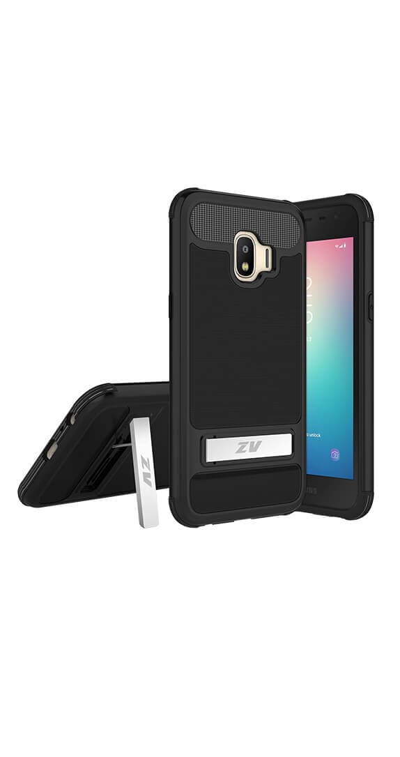 ZV Black Hybrid Cover for Samsung Galaxy J2 Pure