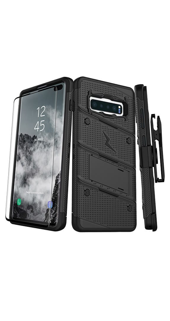 Zizo Bolt Cover w/ Kickstand & Holster for Samsung Galaxy S10