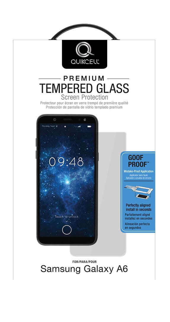 Quikcell Premium Tempered Glass Screen Protector for Samsung Galaxy A6