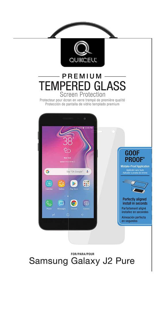 Quikcell Tempered Glass Screen Protector for Samsung Galaxy J2 Pure