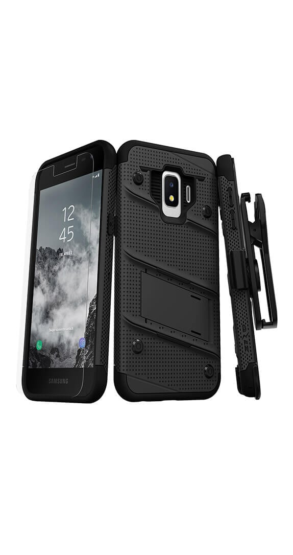 Zizo Bolt Cover w/ Kickstand & Holster for Samsung Galaxy J2 Pure