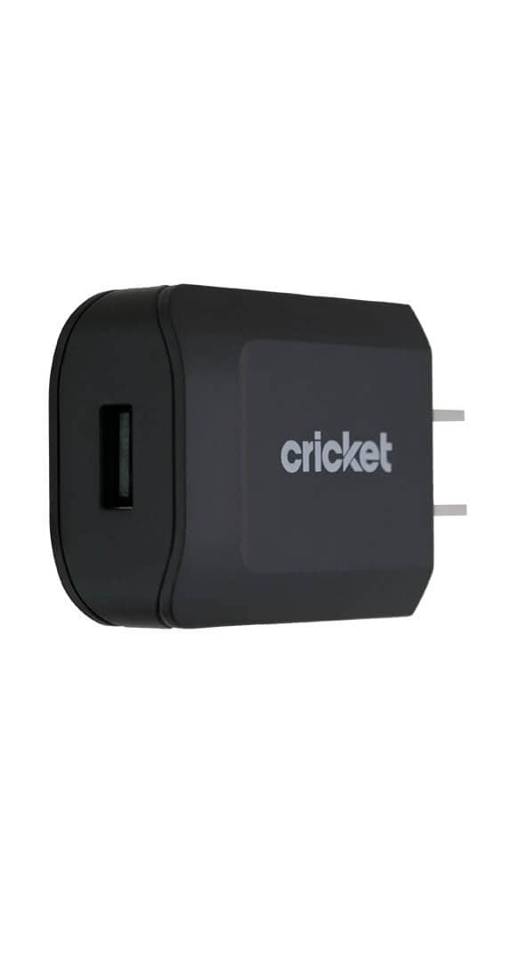 Cricket 2.4A Wall Charger with 4ft Lightning Cable