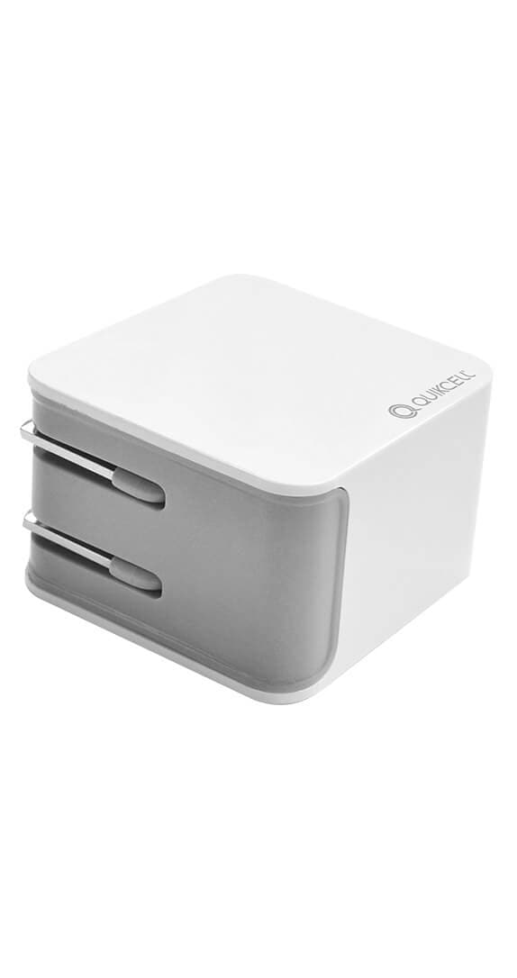 Quikcell 3.1 A Dual USB Wall Charger