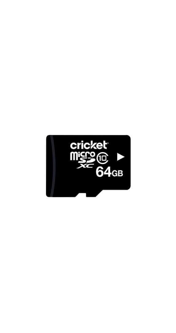 Tarjeta de Memoria microSDHC Cricket de 64 GB