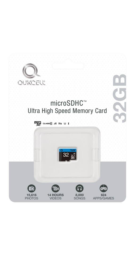 TARJETA DE MEMORIA Ultra Alta Velocidad Quikcell 32GB microSDXC