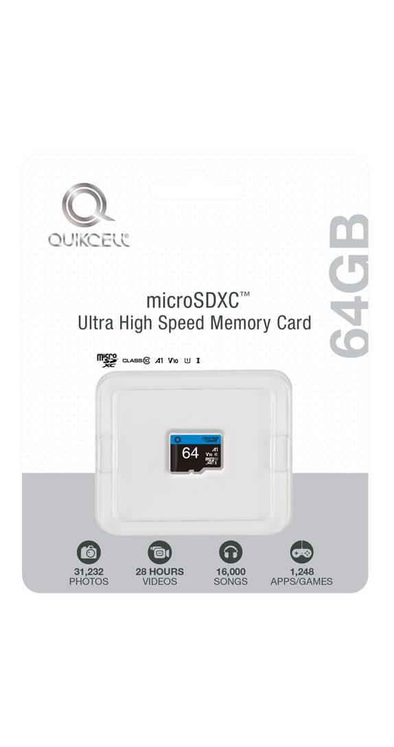 TARJETA DE MEMORIA Ultra Alta Velocidad Quikcell 64GB microSDXC