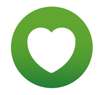 Heart icon on green background